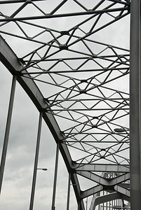 Detail of one of the Centennial Bridge's arches.