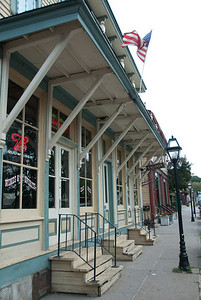 Village of East Davenport - Saloon facade