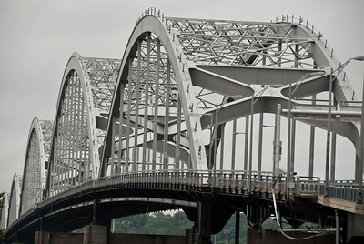 The five arches of the Centennial Bridge are a symbol often used to represent the Quad Cities