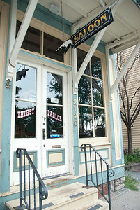 Saloon entrance - Village of East Davenport.