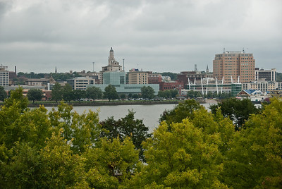 View of Davenport, Iowa, from Centennial Bridge.