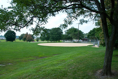 Lindsay Park, Village of East Daventport. This park was used as parade grounds for Civil War soldiers from Camp McClellan. Today it just feels like a small Field of Dreams.