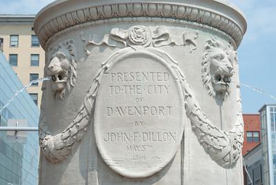 Detail of John F. Dillon monument - LeClaire Park, Davenport, Iowa