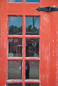 Village of East Davenport - Fire Station, door detail