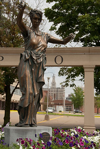 A close up view of the Lady of Germania - Davenport, Iowa.