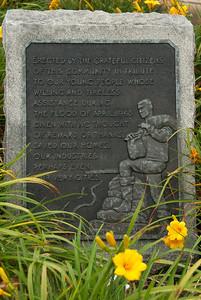 Sign at entrance to Centennial Bridge - Rock Island, Illinois.