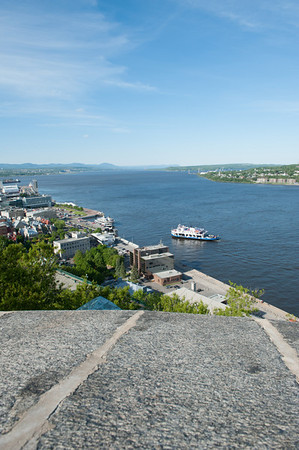 A view of the lower old city, and the St. Lawrence Seaway.