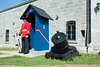 This Canadian soldier is guarding the Citadel, the ceremonial home of the 22nd Regiment of the Canadian Army, the only Francophone infantry regiment in the Canadian armed forces.