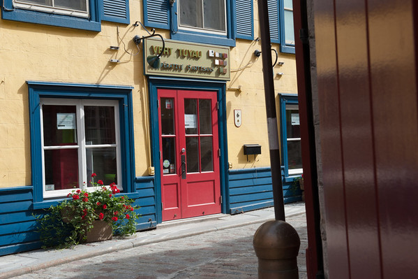 A sight in the Lower Old City of Quebec.