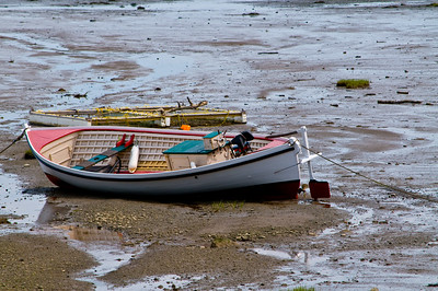Low tide at a small inlet