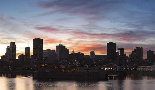 Colourful Evening.  November 2011.  Montreal, Quebec, Canada.