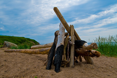 Looks like someone set up this driftwood. It's surprising how much of it has been burned (or someone attempted to burn)