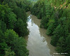 8-29-11<br /> Quechee Gorge the day after hurricane Irene came through new england.  Looking up stream from the bridge
