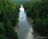 8-29-11<br /> Quechee Gorge the day after hurricane Irene came through new england.  Looking down stream from the bridge