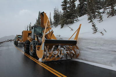 Trail Ridge Road clearing equipment