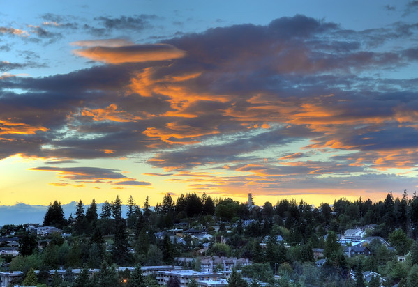 Sunset over Bellevue