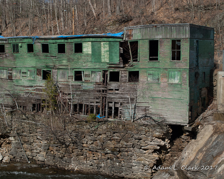 This old wooden part of the mill is the section the town is going to tear down