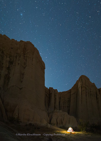 Camping Beneath the Canyon Walls - Red Rock Canyon State Park