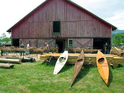 The east end of the barn faces about half an acre of firm, well drained soil -- perfect for projects any sunny day.