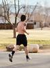 Jogger in Rancho San Rafael Park. Reno, NV