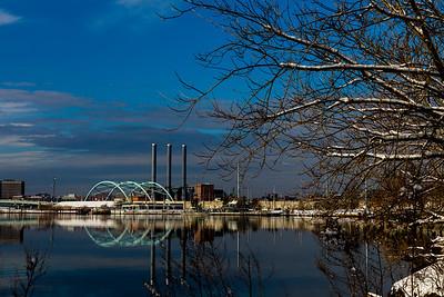 195 Bridge and Providence Power Plant