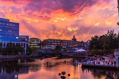 Fiery Sky in Providence, RI