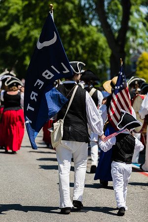 Father and Son Gaspee Day Parade