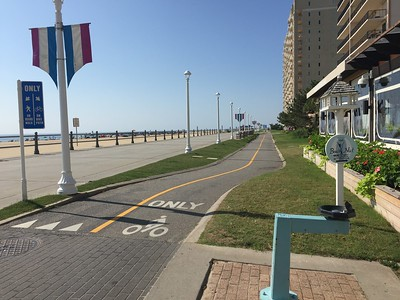 The boardwalk at Virginia Beach.