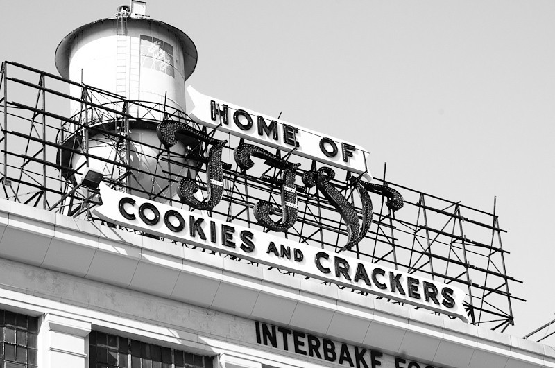 The Southern Biscuit Company was founded in Richmond in 1899, and later became Interbake Foods. Its main product line was cookies sold under the FFV label which stood for Famous Foods of Virginia. This plant is closed and barricaded today.