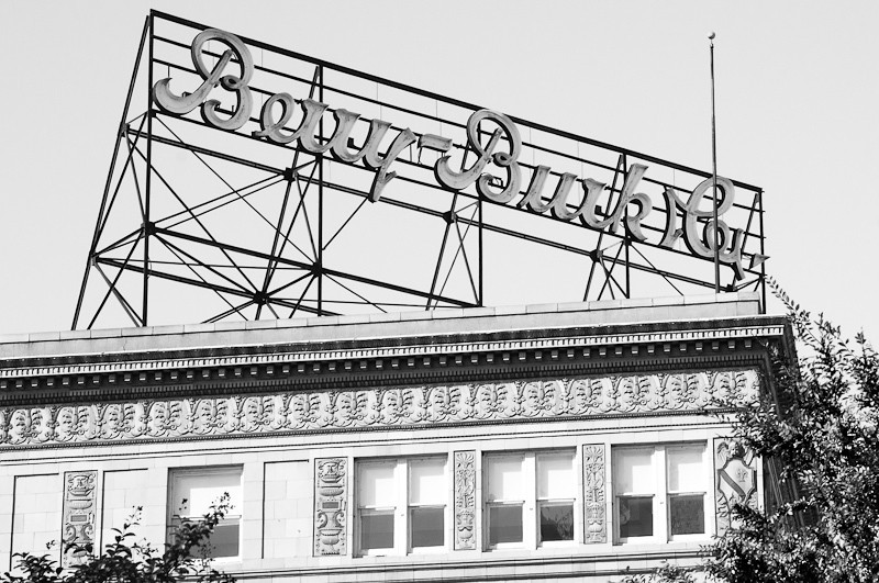 The Berry-Burk Company was a very popular store selling men's clothing. It was located across Grace Street from Miller & Rhoads and Thalhimers, Richmond's two major department stores.