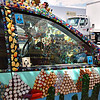 "An ""art car"", parked in front of Galiano's, Douglas AZ"