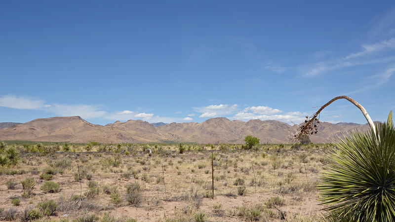 Looking NW from the Geronimo Surrender Monument, toward the Chiricahua mountains.