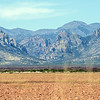 From a few miles north of Rodeo, NM, looking into the Chiricahua mountains, near Portal, AZ.