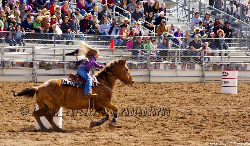 Junior Rodeo Barrel Racing