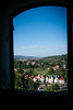 View of the town of Bran from Bran's Castle, Transylvania