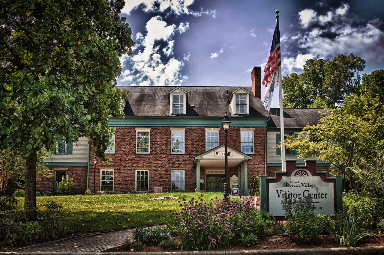 The visitor center at Roscoe Village in Coshocton, Ohio.