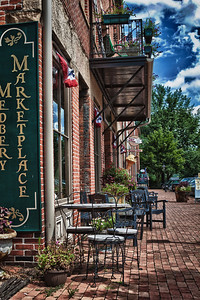 The Medberry Marketplace in Roscoe Village in Coshocton, Ohio.