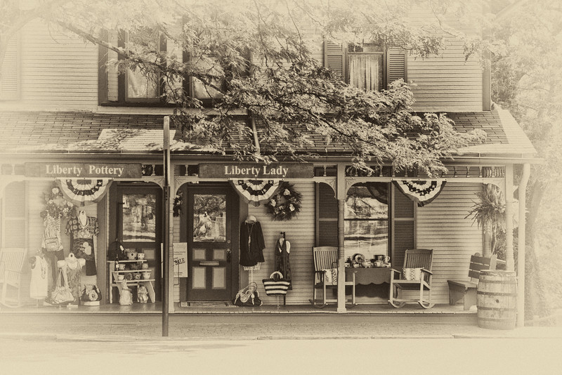 The Liberty House in Roscoe Village in Coshocton, Ohio. (Vintage Effect)