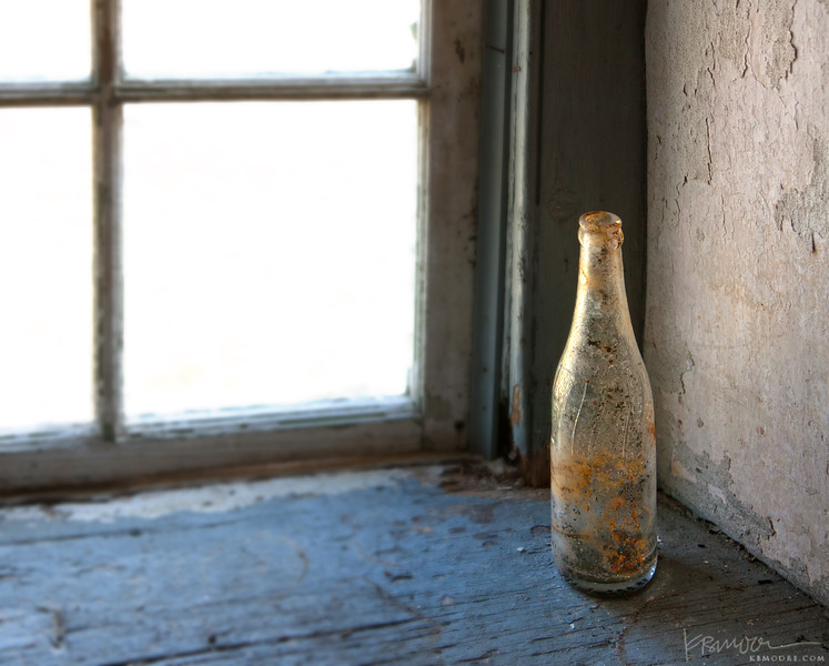 Old Bottle in Abandoned Farmhouse