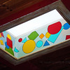"One of two colorful skylights inside of ""Ruta's."""