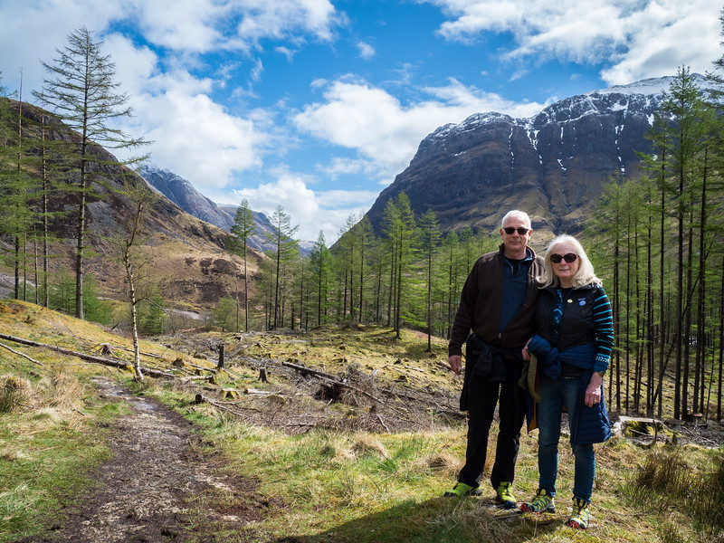 Hiking in Glencoe