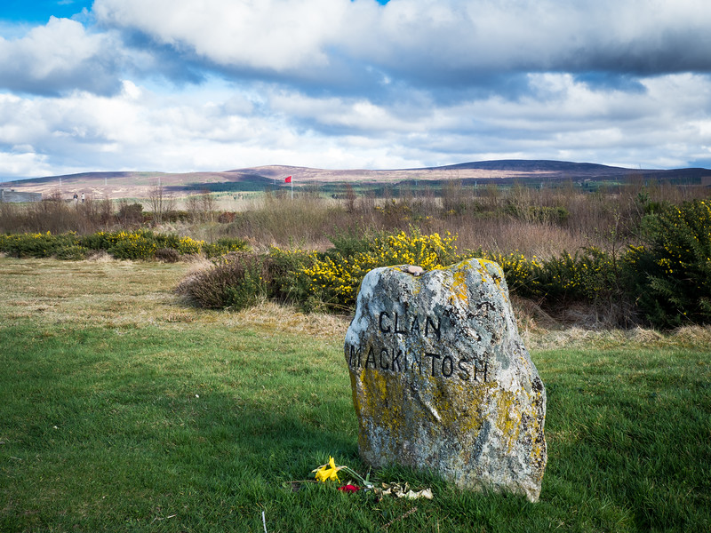 Battle of Culloden marker