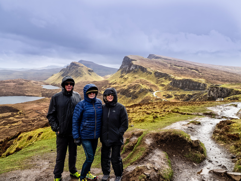 Hiking at Quiraing in the rain