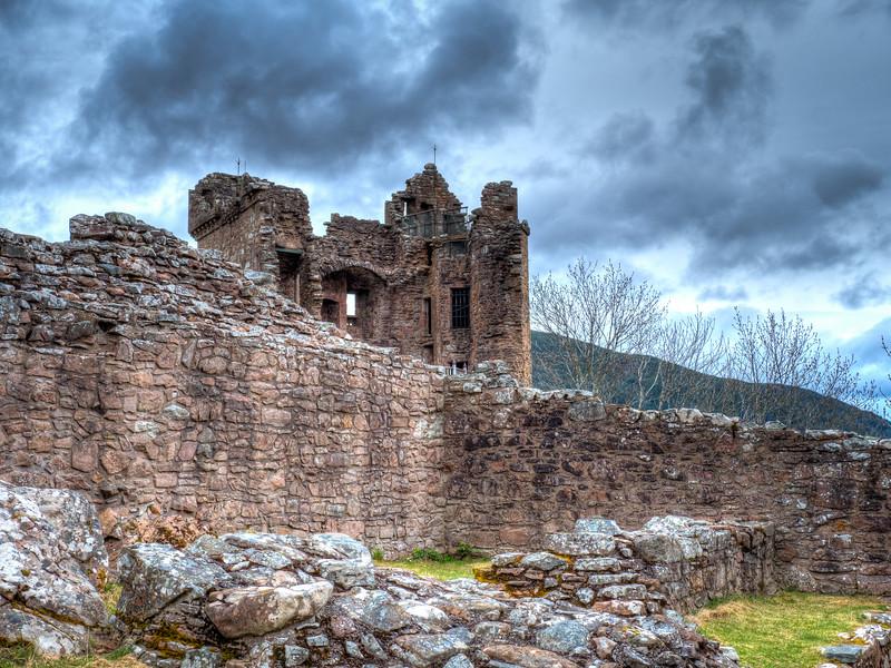 Urguhart Castle, along Loch Ness