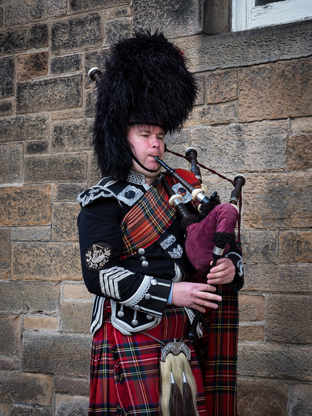 Bagpiper in Edinburgh