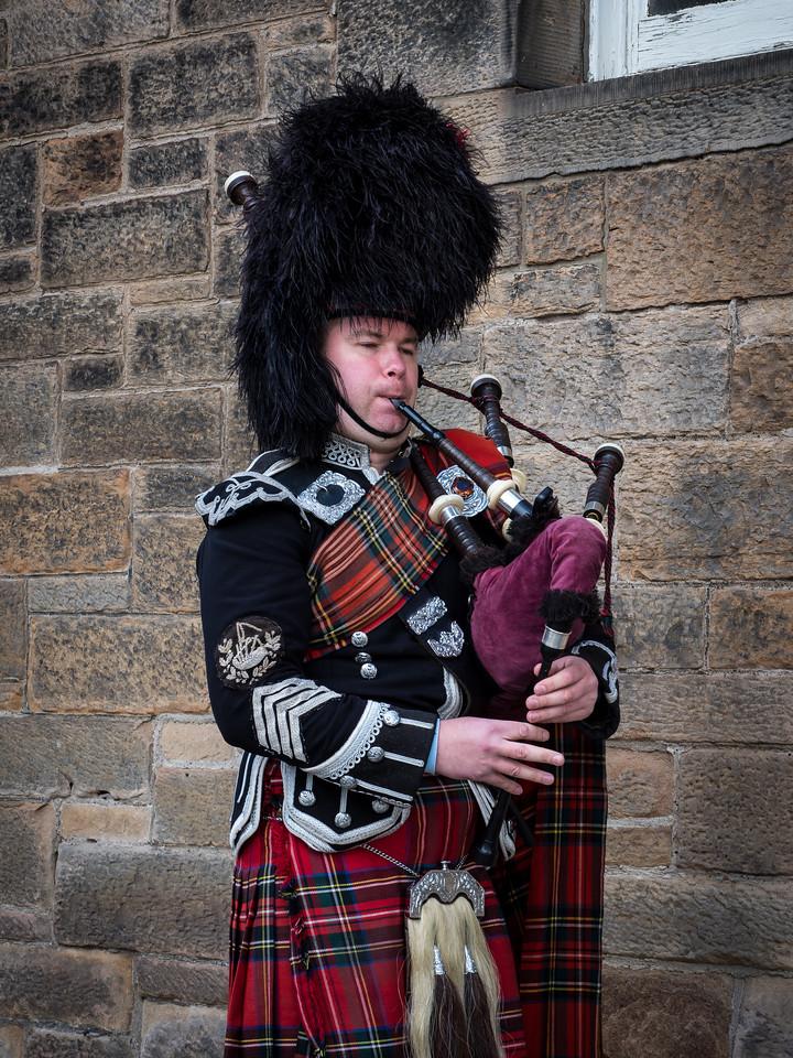 Bagpiper in Edinburgh