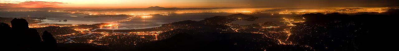 From Mt. Tamalpais at dawn. 10  x 2 images stitched with APP.