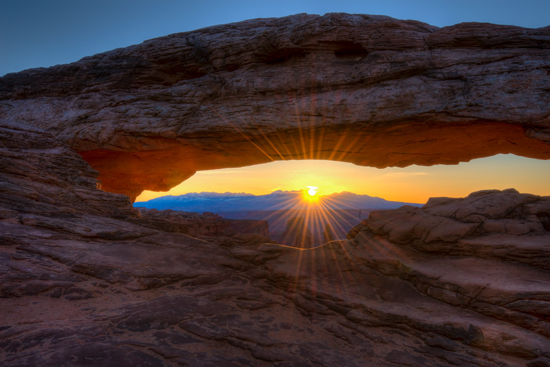 Sunburst at Mesa Arch, Canyonlands