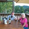Brian & I Enjoying Wine On Tent Verandah