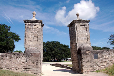 Gates to the Old City of St. Augustine, FL. © Nora Kramer. All rights reserved.